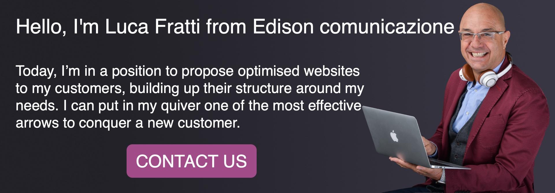 Luca Fratti, Edison Comunicazione